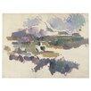 "Trademark Fine Art ""Montagne Sainte Victorie, 1904"" by Paul Cezanne Painting Print on Canvas"