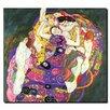 "Trademark Fine Art ""Virgins"" by Gustav Klimt Painting Print on Canvas"