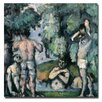 "Trademark Fine Art ""The Five Bathers"" by Paul Cezanne Painting Print on Canvas"