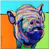 """Trademark Fine Art """"Grunt"""" by Pat Saunders-White Painting Print on Wrapped Canvas"""