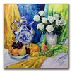 Trademark Fine Art 'Still Life with Blue Teapot' by Yelena Lamm Painting Print on Canvas