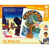 New York Puzzle Company Chicago Double Sided 500-Piece Puzzle