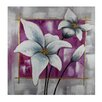 <strong>White Flowers Original Painting</strong> by Entrada