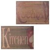 Entrada Kitchen Cocina 2 Piece Metal Plaque Set