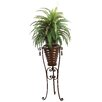 Laura Ashley Home Tall High End Realistic Silk Boston Fern Floor Plant in Planter