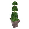 <strong>Tall Preserved Spiral Boxwood Cone Topiary in Planter</strong> by Laura Ashley Home