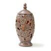 Lion Sports CandleTEK Ceramic Floral Vase Flameless Candle