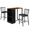 Dorel Asia 3 Piece Counter Height Pub Table Set