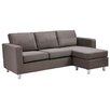 Dorel Small Spaces Sectional Sofa
