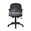 Techni Mobili Mid-Back Mesh Secretarial Task Chair with Arms