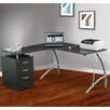 Techni Mobili Corner Desk with File Cabinet
