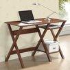 Techni Mobili Stylish Writing Desk with Side Shelves