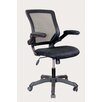 Techni Mobili Mid-Back Mesh Task Chair with Flip-Up Arms