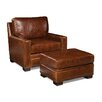 <strong>Palatial Furniture</strong> Bronson Leather Arm Chair and Ottoman