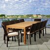 International Home Miami Tanager 11 Piece Dining Set with Off-White Cushions