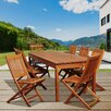 <strong>International Home Miami</strong> Gannet Eucalyptus 9 Piece Dining Set