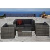 International Home Miami Atlantic 5 Piece Deep Seating Group with Cushions