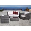 <strong>International Home Miami</strong> Atlantic 5 Piece Deep Seating Group with Cushions
