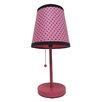 "<strong>Fun Prints Polka Dot 15"" H Table Lamp with Drum Shade</strong> by All the Rages"