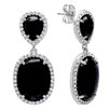 Sterling Essentials Onyx Drop Earrings