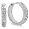 <strong>Sterling Essentials</strong> Cubic Zirconia Hoop Earrings