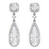 <strong>Sterling Essentials</strong> Pear Cut Cubic Zirconia Drop Earrings