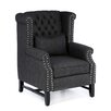 Castleton Home Chamberlain Tufted High Back Club Chair