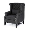 Tufted High Back Club Chair