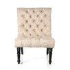 Castleton Home Bennington Scroll Back Tufted Chair