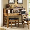 Whalen Furniture Fairport Writing Desk with Hutch