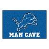 FANMATS NFL Detroit Lions Man Cave Starter Area Rug