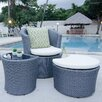 Matrix Boca Outdoor 3 Piece Lounge Seating Group