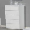 Whiteline Imports Nelly 5 Drawer Chest
