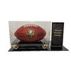 <strong>Deluxe Football Display with Ticket Holder</strong> by Caseworks International