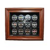 <strong>Caseworks International</strong> NHL Twelve Puck Cabinet Style Display Case in Brown