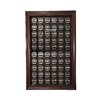 <strong>Caseworks International</strong> Sixty Puck Cabinet Style Display Case in Mahogany