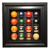 Caseworks International Sixteen Pool Ball Display