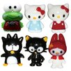 Looking Glass 6 Piece Hello Kitty 1, Hello Kitty 2, BadtzMaru, Chococat, Keroppi and My Melody Figurine Set