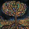 GreenBox Art Glass Tree by Eli Halpin Painting Print on Canvas