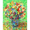 GreenBox Art Abstract Bouquet by Angelo Franco Painting Print on Canvas