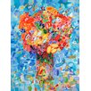 GreenBox Art Abstract Bouquet Sky Blue by Angelo Franco Painting Print on Canvas