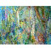 GreenBox Art Abstract Woodland by Angelo Franco Painting Print on Canvas