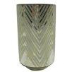 DK Living Medium Square Diamond Frost Hurricane/Vase