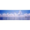 iCanvasArt Panoramic Seascape with Sunshine Skyway Bridge in Gulf of Mexico, Florida Photographic Print on Canvas