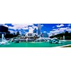 iCanvasArt Panoramic Buckingham Fountain Photographic Print on Canvas