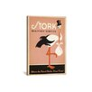 iCanvas Anderson Design Group Stork Delivery Service Vintage Advertisement on Canvas in Pink