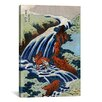 <strong>iCanvasArt</strong> Ando Hiroshige 'Yoshitsune Umarai Waterfall at Yashino In Washu, 1833' by Utagawa Hiroshige I Graphic Art on Canvas