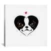 <strong>'BT Heart Card' by Brian Rubenacker Graphic Art on Canvas</strong> by iCanvasArt
