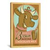 iCanvasArt 'Brown Bovine Chocolate Mile' by Anderson Design Group Vintage Advertisement on Canvas