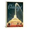 iCanvasArt 'Buckingham Fountain' by Anderson Design Group Vintage Advertisement on Canvas